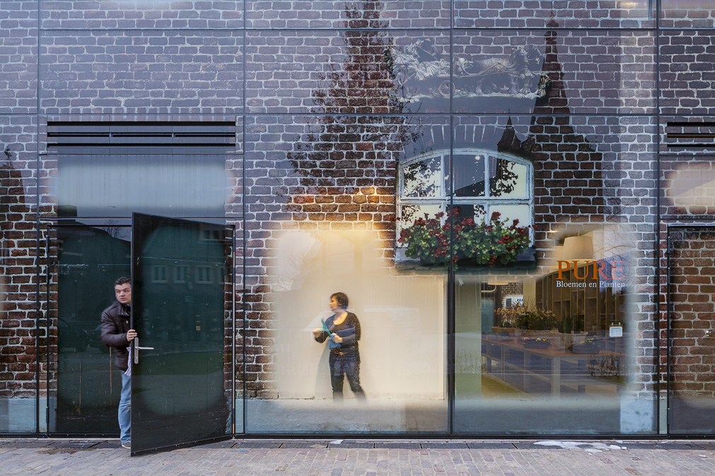 Blow-up prints on glass for MVRDV's Glass Farm