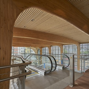 AREP's LORIENT-BRETAGNE SUD laminated timber and glass station