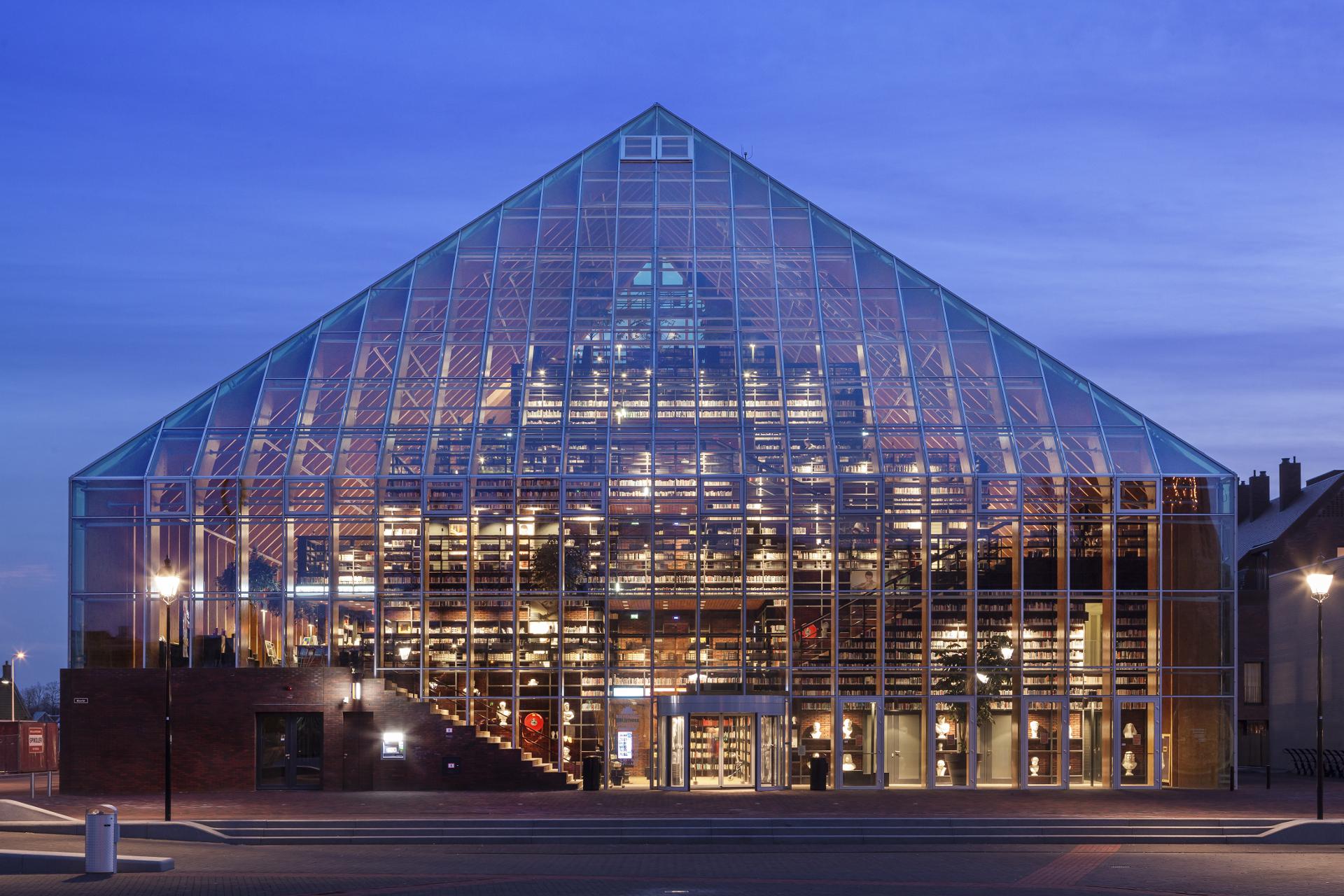 Mvrdv Glass And Glulam Pyramid Books Floornature