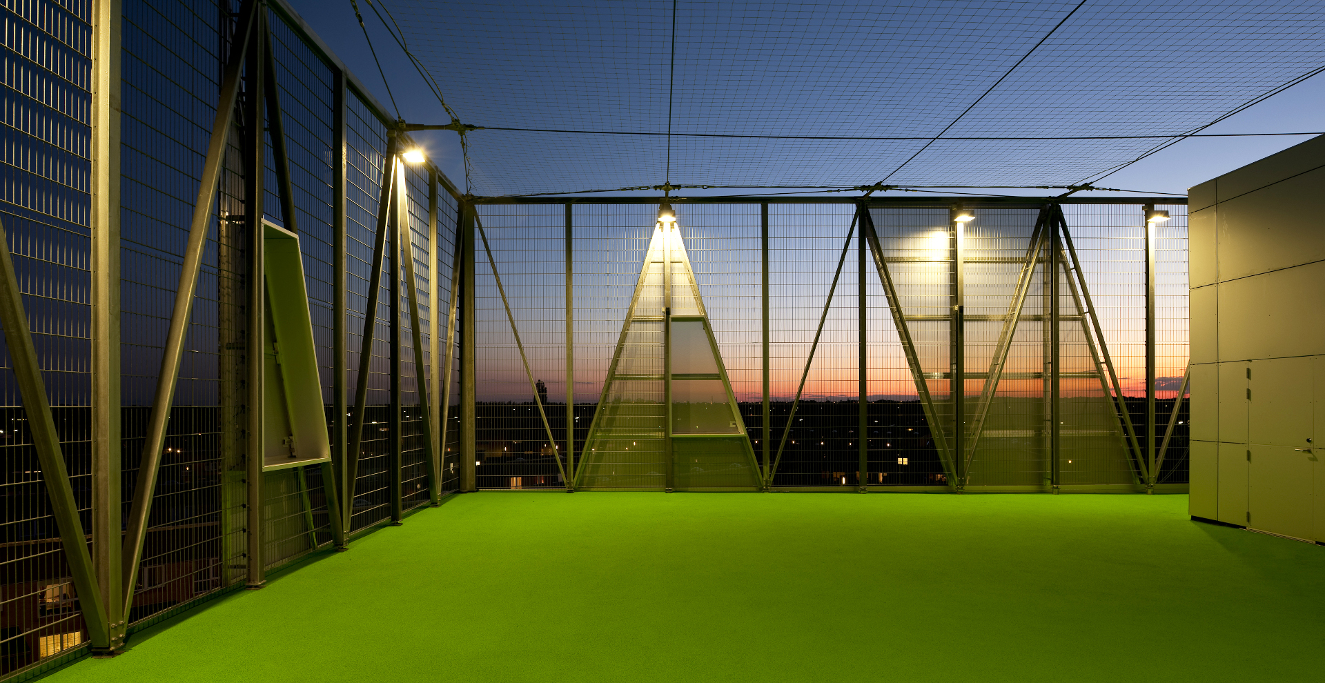 A mini-tower of sport with an aluminium façade by Dorte Mandrup