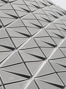 Micro-perforated façade for the high-tech Friends Arena by Berg, C. F. Møller and Krook & Tjade
