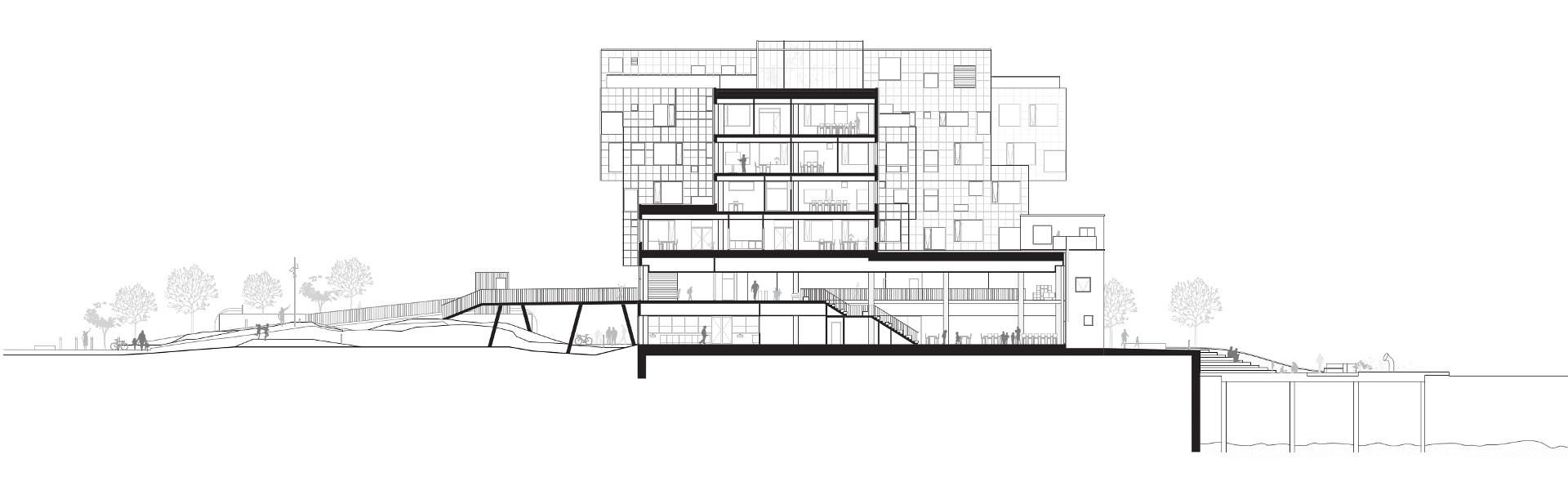 Copenhagen International School with solar panels by C.F. Møller Architects