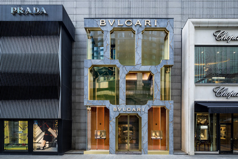 The Bulgari shop in Kuala Lumpur, GRC and LEDs by MVRDV