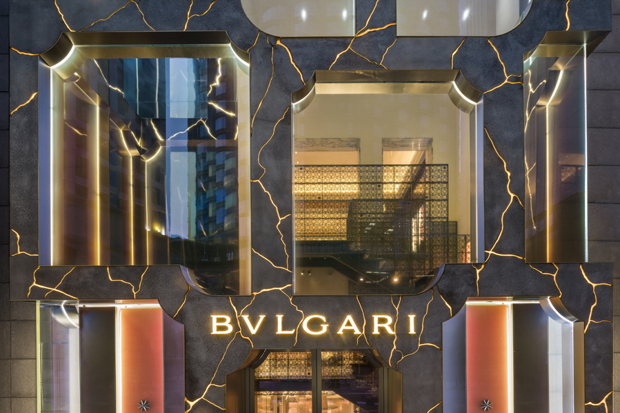 The Bulgari shop in Kuala Lumpur, GRC and LEDs by MVRDV