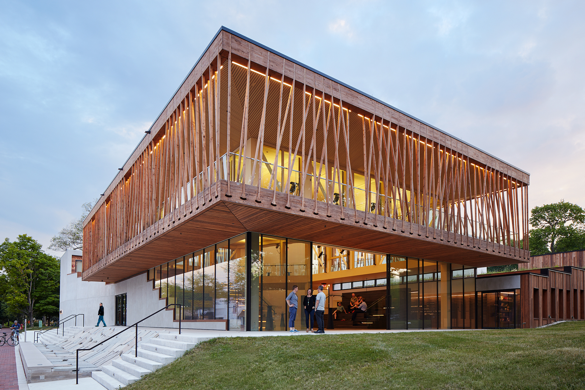 Studio Gang's wooden tensile structure for the Writers ...