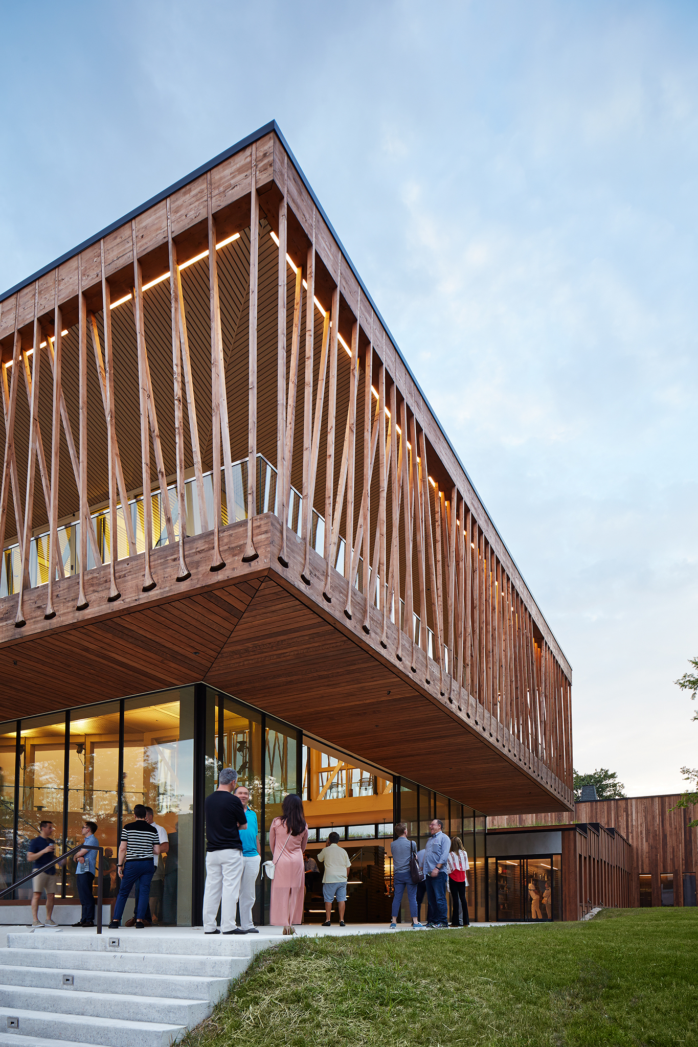Studio Gang's wooden tensile structure for the Writers Theatre