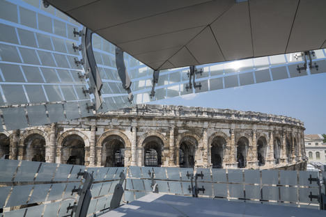 Elizabeth De Portzamparc's Musée de la Romanité in Nimes and its screen-printed glass facade