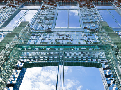 MVRDV's Crystal House: a glass brick façade.
