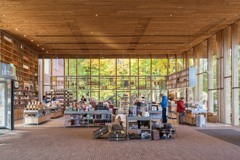 Brick, copper and timber make up Mecanoo's Open Air Museum