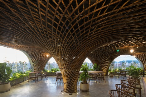 VTN Architects' bamboo roof for Nocenco Café