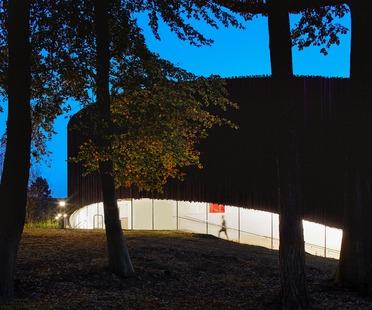 Timber façade for Seilern Architects' new Wellington College Cultural Quarter