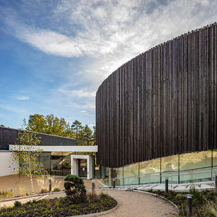 Timber façade for Seilern Architects' new Wellington College Cultural Quarter