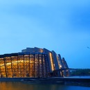 The brickwork, steel and glass Wuzhen Theatre by Kris Yao