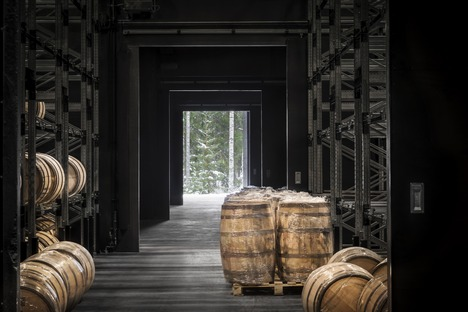 The concrete distillery that looks like wood by Avanto Architects