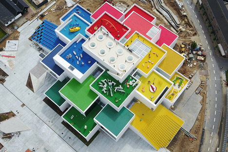 The Lego House designed by BIG is made of concrete and steel
