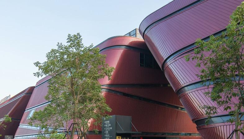 Mecanoo in Longgang, concrete and aluminum cantilevered facade