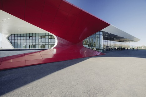 Aluminium, steel, glass and wood feature in the Kutaisi airport by UNSTUDIO