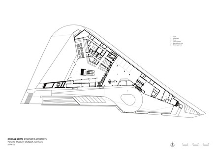 Delugan Meissl's Stuttgart Porsche Museum made of concrete and steel