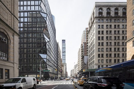 OMA's black concrete and glass building in Manhattan