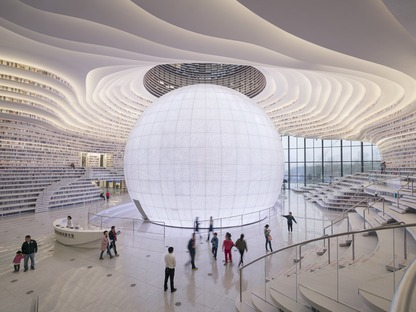 A polycarbonate sphere for MVRDV's Binhai Library