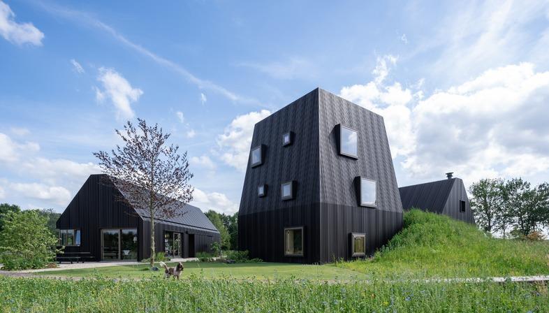 Mecanoo builds a Dutch farmstead out of timber and aluminium