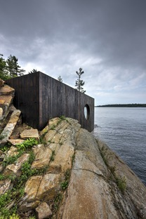 Partisans's pre-aged wood Grotto Sauna