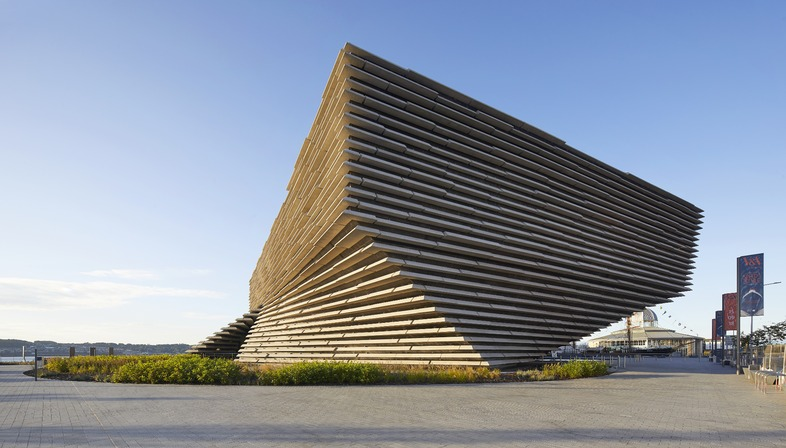 Façade with concrete sunbreaks for the V&A Dundee Museum