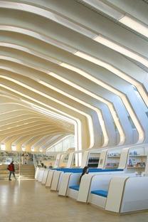 Helen & Hard architects' glue-laminated timber library in Vennesla