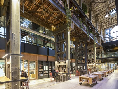 The interior of Mecanoo's locHal mechanical library