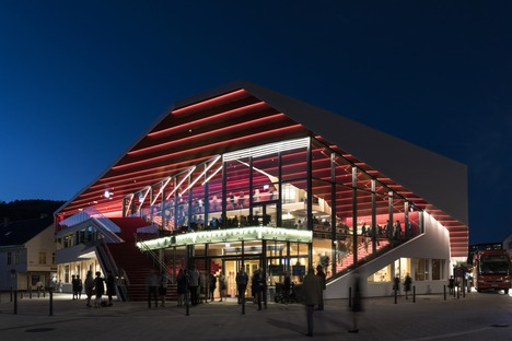 Flekkefjord Cultural Centre made of timber and concrete