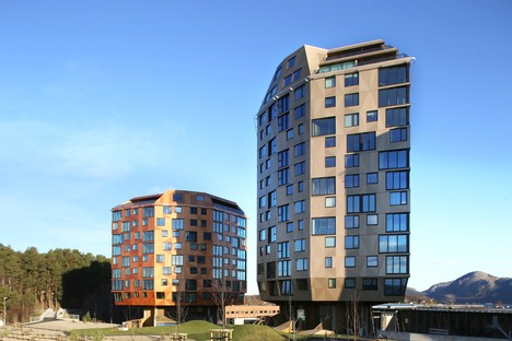 Concrete, timber and aluminium towers by Helen & Hard Architects