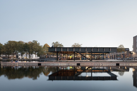 CIVIC's steel pavilion with vierendeel trusses in Tilburg