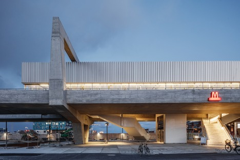 COBE and Arup's Brutalist concrete station
