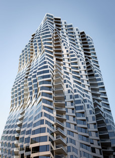 An aerospace façade for Studio Gang's MIRA Tower