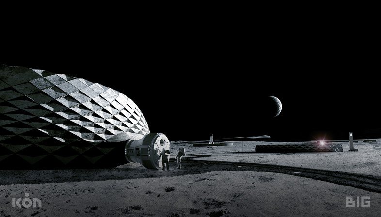 3d printable buildings for living on the moon by BIG, ICON and SEArch+