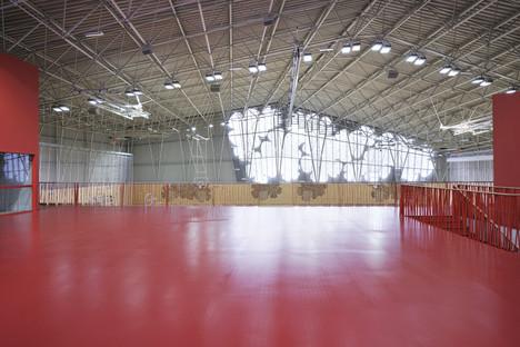 A trellis structure for Enota's Podčetrtek Sports Hall