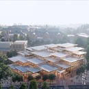 BIG's glass and timber Student Centre for Johns Hopkins University