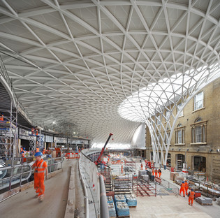 McAslan's King's Cross Station in steel and glass panels