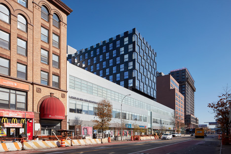 Curved steel façade for BIG's The Smile building