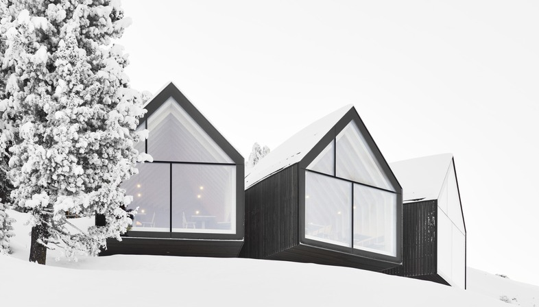 Peter Pichler's concrete and timber Oberholz mountain hut