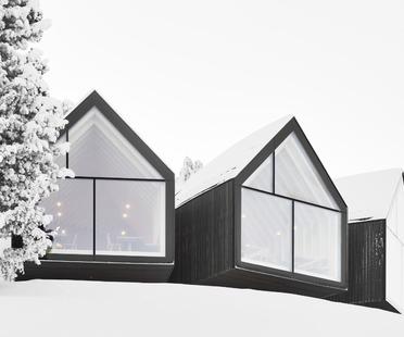 Die Berghütte Oberholz aus Beton und Holz von Peter Pichler