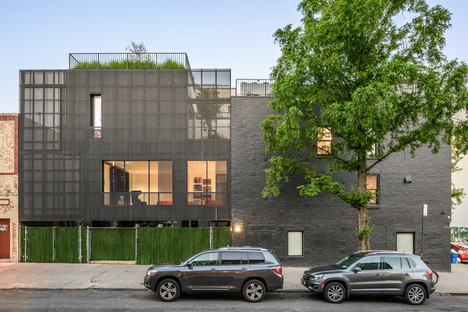 Young Projects' zinc-clad house in New York