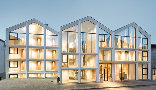 Renovation of a concrete, glass and wood hotel by Peter Pichler