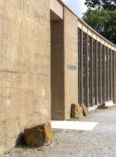 Layered concrete and wood for the Yorkshire Sculpture Park by Feilden Fowles Architects
