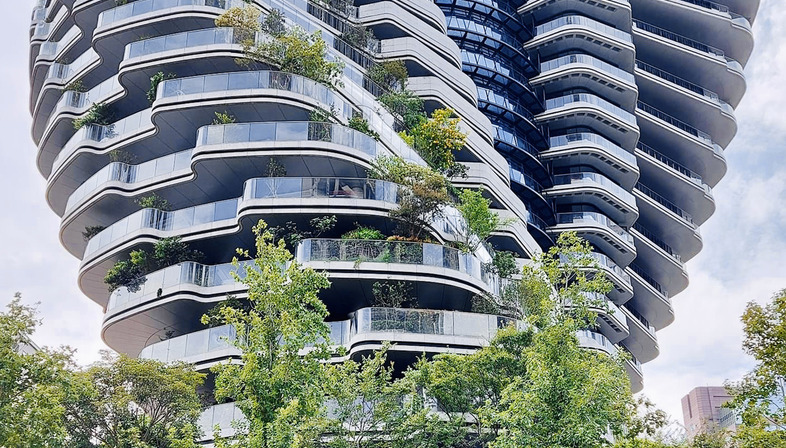 The carbon-absorbing vertical forest by Vincent Callebaut