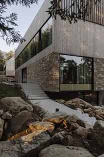 Studio de.materia's apartments of wood and stone