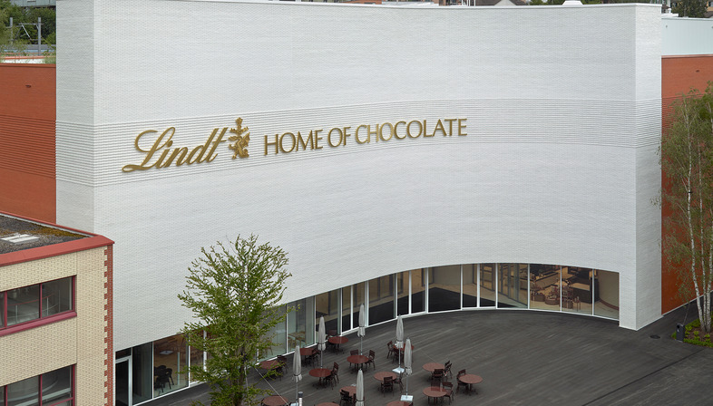 Christ & Gantenbein's Lindt Home of Chocolate in glazed brick and reinforced concrete