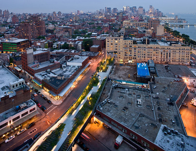 Gansevoort Woodland at Night  ©Iwan Baan/Courtesy of the High Line