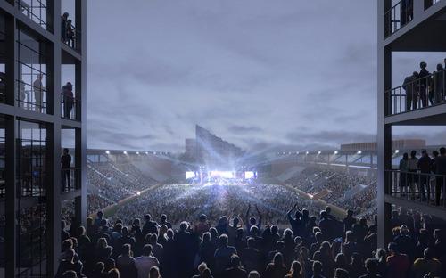 Bauer Stadium in Saint-Ouen-sur-Seine, France. CBA in collaboration with SCAU.