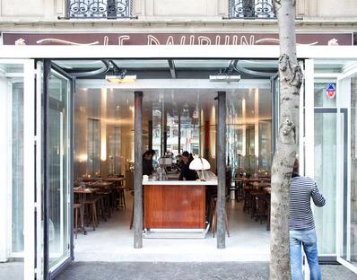 Le Dauphin, Paris. Clément Blanchet with Rem Koolhaas.
